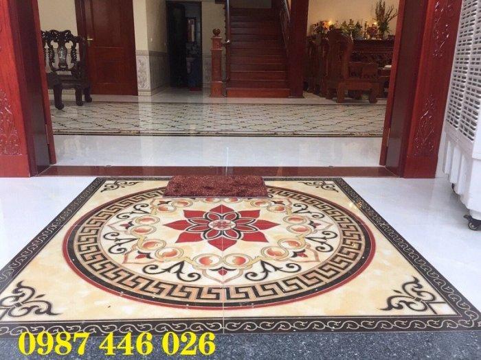 Gạch thảm chiếu nghỉ trang trí phòng khách đẹp HP01752
