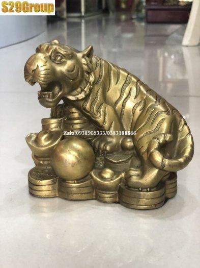 Tượng hổ bằng đồng cao 15cm,vật phẩm phong thủy3