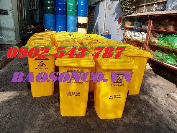 Thanh lý thùng rác y tế đựng rác thải chứa Sars CoV23