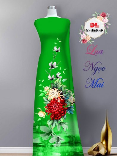 Vải áo dài lụa ngọc mai cao cấp V 1869