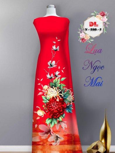 Vải áo dài lụa ngọc mai cao cấp V 1866