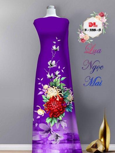 Vải áo dài lụa ngọc mai cao cấp V 1860