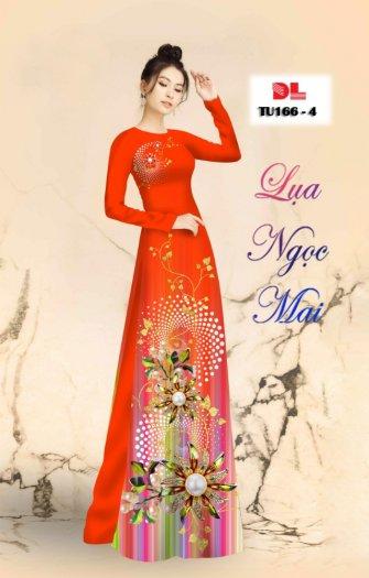 Vải áo dài lụa ngọc mai cao cấp TU 166 của Vải Áo Dài Kim Ngọc.3