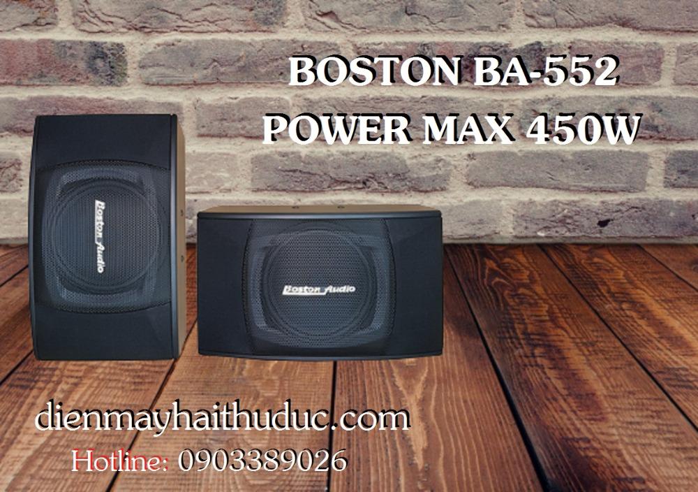 Loa Boston BA-552 thiết kế nhỏ gọn nhất trong dòng loa 450W2