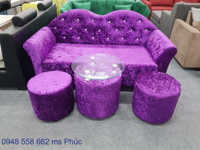 Ghế sofa đẹp cho spa, bộ bàn ghế chờ spa đẹp giá rẻ tại Thuận An, Bình dương7