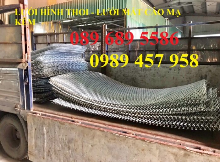 Lưới thép dập giãn, Lưới hình thoi, Lưới mắt cáo, Lưới dập giãn mạ kẽm nhúng nóng13