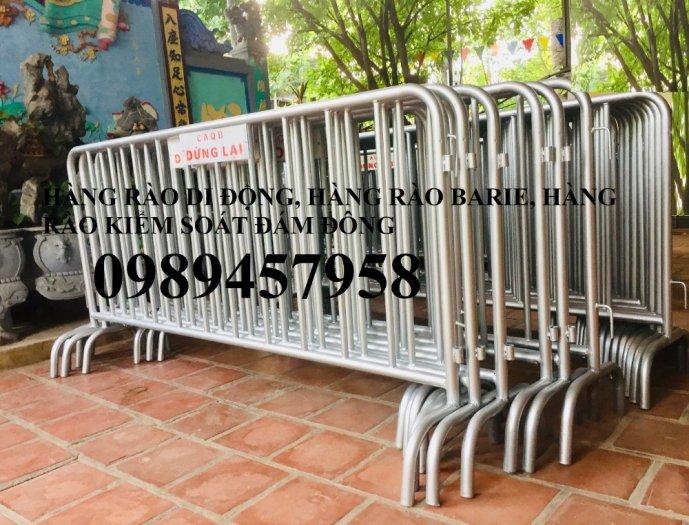 Sản xuất khung hàng rào di động, hàng rào cách ly khu vực Covid có sẵn0
