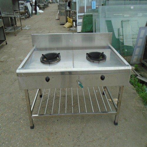 Bếp gas công nghiệp 2 họng inox 304 Hải Minh HM 0920