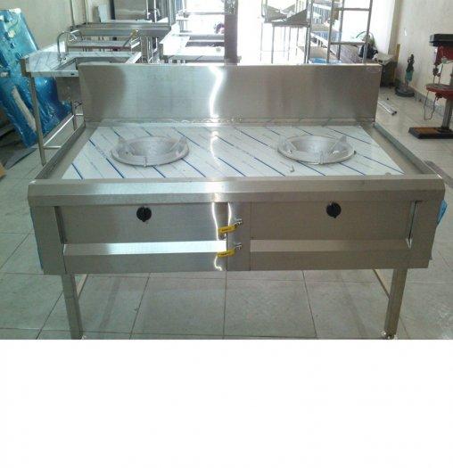 Bếp gas công nghiệp 2 họng inox 304 Hải Minh HM 0914