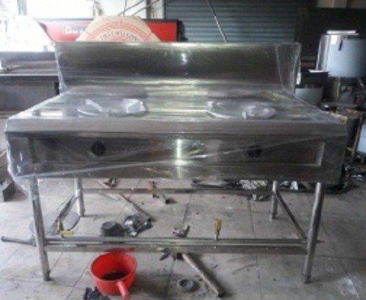 Bếp gas công nghiệp 2 họng inox 304 Hải Minh HM 097