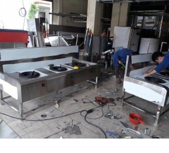 Bếp ga inox công nghiệp 3 họng đốt Hải MInh16