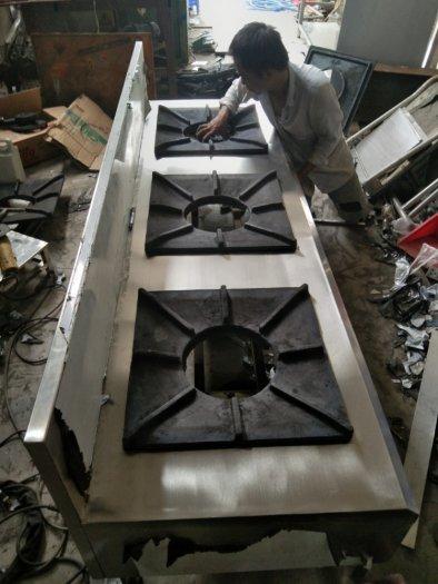 Bếp ga inox công nghiệp 3 họng đốt Hải MInh1