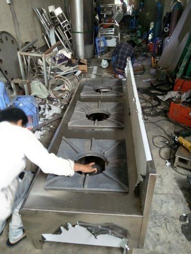 Bếp ga inox công nghiệp 3 họng đốt Hải MInh0
