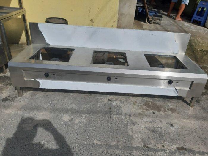 Bếp gas inox hầm chân thấp Hải MInh HM 117