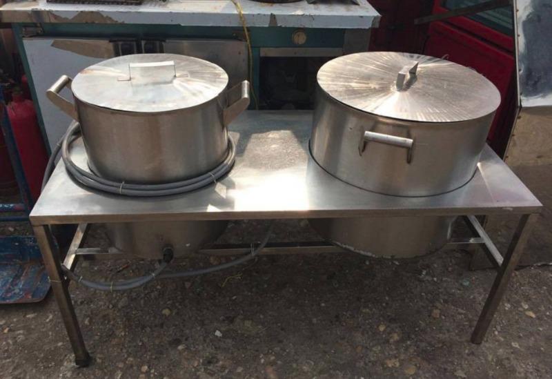 Nồi inox điện nấu nước sôi 100 lít Hải Minh HM 0192