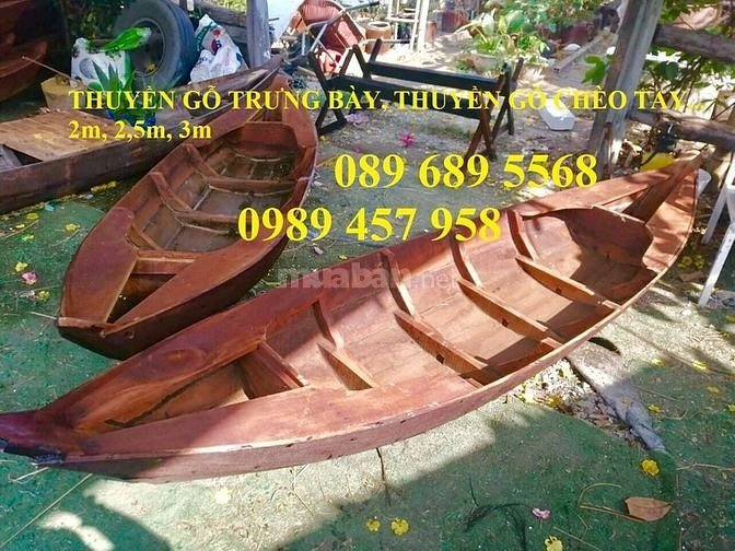 Thuyền 3 lá, thuyền gỗ tam bản trưng bày, chụp ảnh3