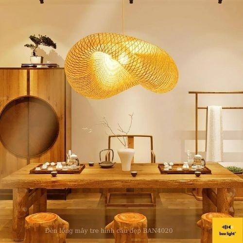 Đèn Mây Tre: Mẫu đèn mây tre đan nghệ thuật trang trí phòng khách BA5018 430.000 VND2