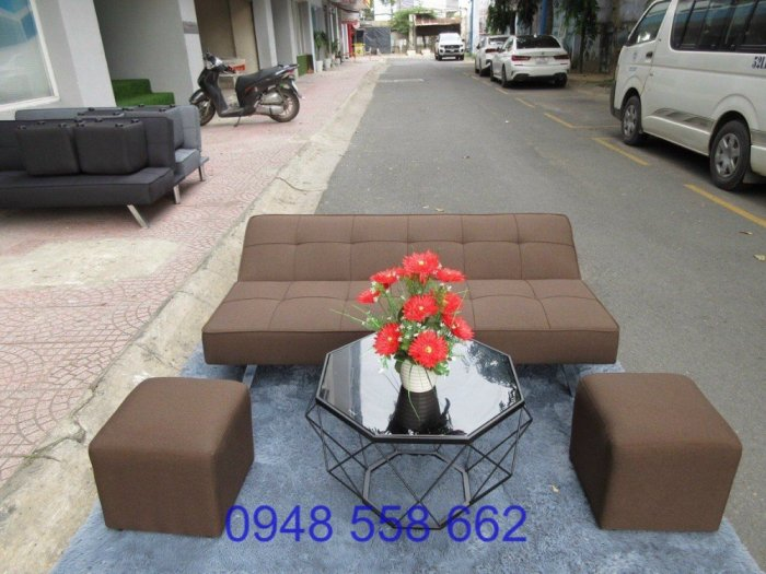 Mua sofa bed giá rẻ tặng kèm bàn + 2 đôn tại Thuận An, mua bàn ghế kiêm giường ngủ 2 trong 1 tại Bình dương13