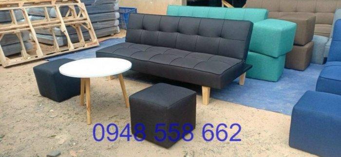 Mua sofa bed giá rẻ tặng kèm bàn + 2 đôn tại Thuận An, mua bàn ghế kiêm giường ngủ 2 trong 1 tại Bình dương9