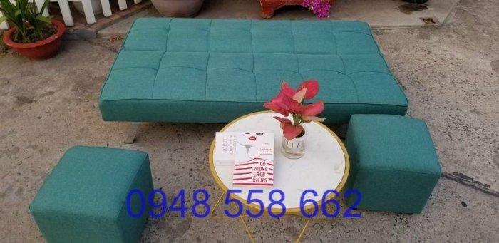 Mua sofa bed giá rẻ tặng kèm bàn + 2 đôn tại Thuận An, mua bàn ghế kiêm giường ngủ 2 trong 1 tại Bình dương7