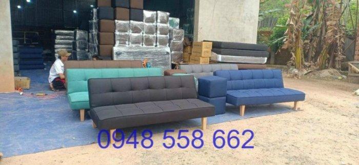 Mua sofa bed giá rẻ tặng kèm bàn + 2 đôn tại Thuận An, mua bàn ghế kiêm giường ngủ 2 trong 1 tại Bình dương5