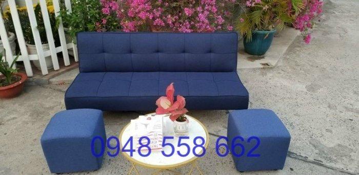 Mua sofa bed giá rẻ tặng kèm bàn + 2 đôn tại Thuận An, mua bàn ghế kiêm giường ngủ 2 trong 1 tại Bình dương4