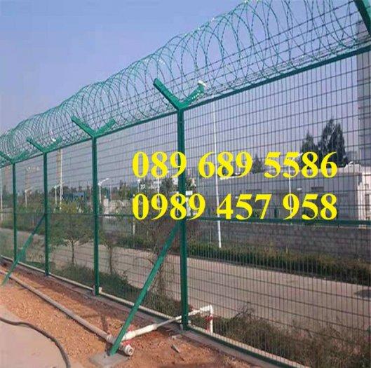 Cung cấp Dây thép gai hình dao bọc PVC, Dây gai bọc nhựa 45cm, 60cm2