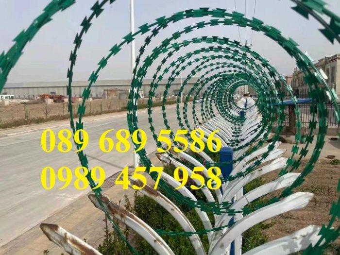 Cung cấp Dây thép gai hình dao bọc PVC, Dây gai bọc nhựa 45cm, 60cm1