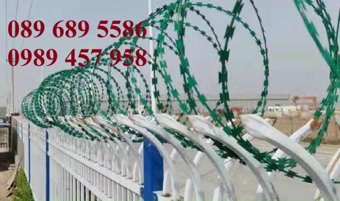 Cung cấp Dây thép gai hình dao bọc PVC, Dây gai bọc nhựa 45cm, 60cm0