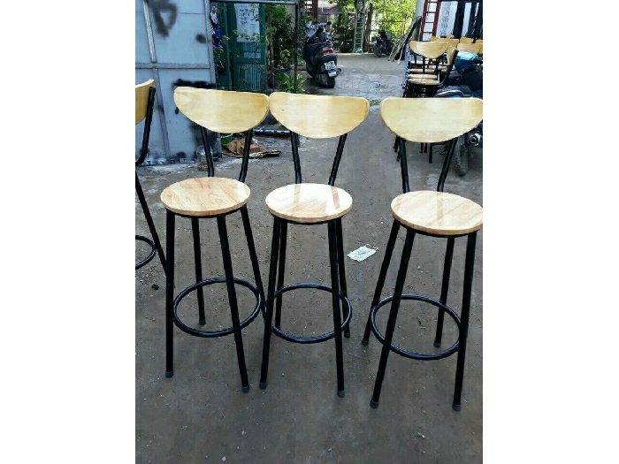 Ghế gỗ quầy đủ màu giá rẻ0
