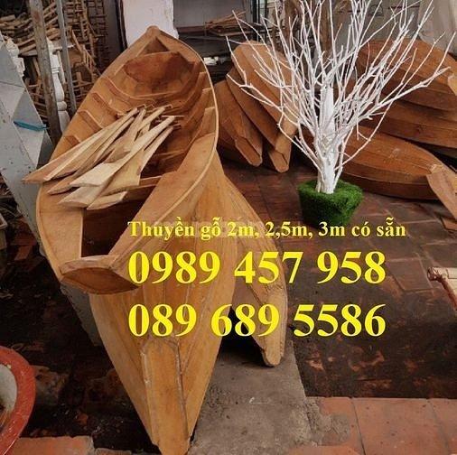 Thuyền gỗ, ghe gỗ, xuồng ba lá, thuyền trang trí, xuồng trưng bày(liên hệ báo giá)3