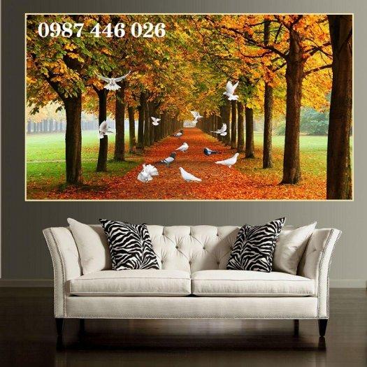 Tranh gạch men, tranh ốp tường đẹp 3d trang trí HP015512