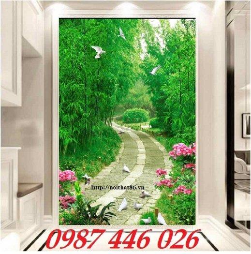 Tranh gạch men, tranh ốp tường đẹp 3d trang trí HP01558