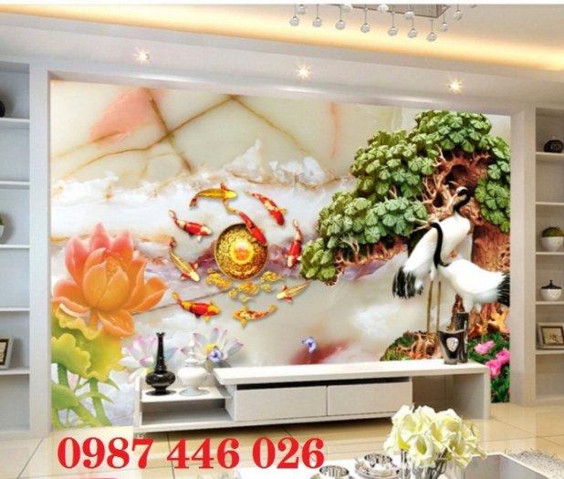 Tranh gạch hoa sen, gạch trang trí ốp tường HP76614
