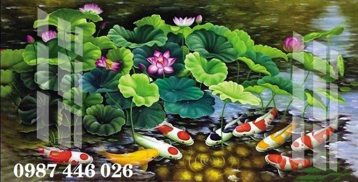 Tranh gạch hoa sen, gạch trang trí ốp tường HP76613