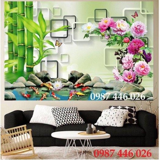 Tranh gạch hoa sen, gạch trang trí ốp tường HP76610