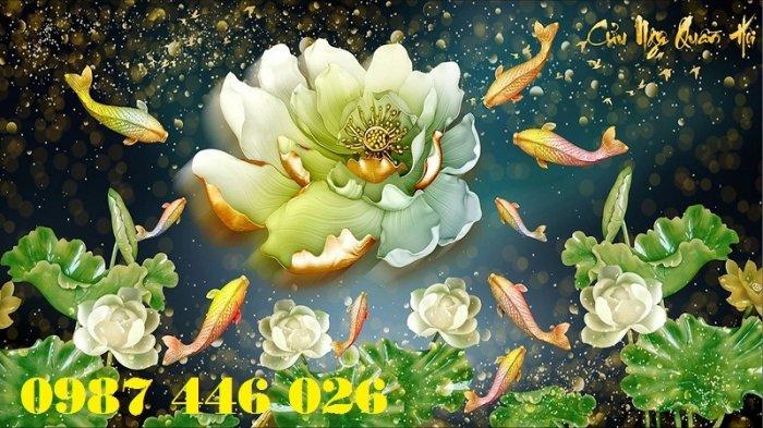 Tranh gạch hoa sen, gạch trang trí ốp tường HP7668