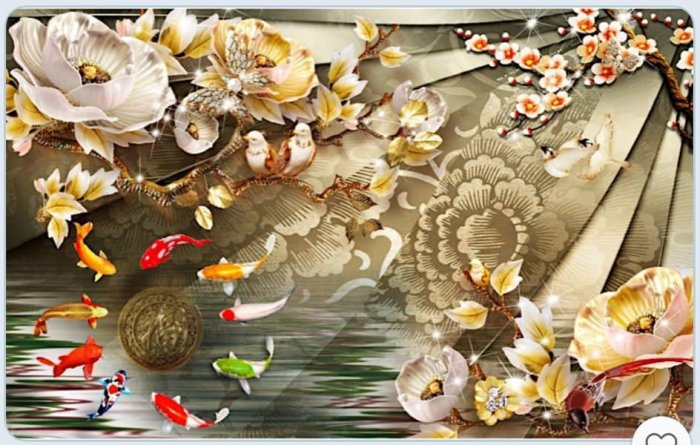 Tranh gạch hoa sen, gạch trang trí ốp tường HP7663