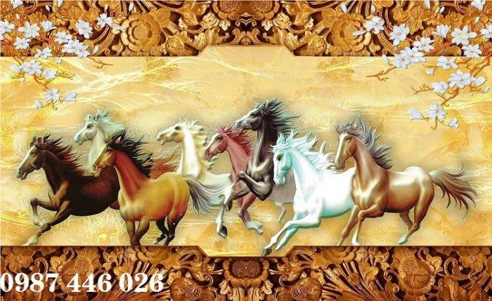 Tranh gạch men ngựa mã đáo thành công HP105211