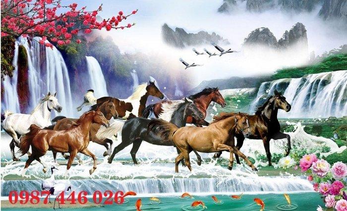 Tranh gạch men ngựa mã đáo thành công HP10529