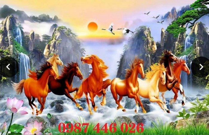 Tranh gạch men ngựa mã đáo thành công HP10525