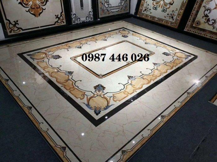 Gạch thảm sảnh- gạch lát nền trang trí phòng khách rộng HP02954