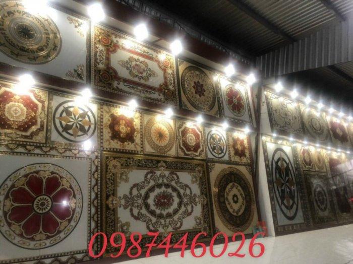 Thảm gạch sàn trang trí nội thất phòng khách đẹp HP105987