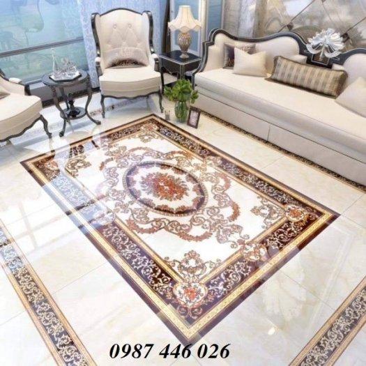 Thảm gạch sàn trang trí nội thất phòng khách đẹp HP105985
