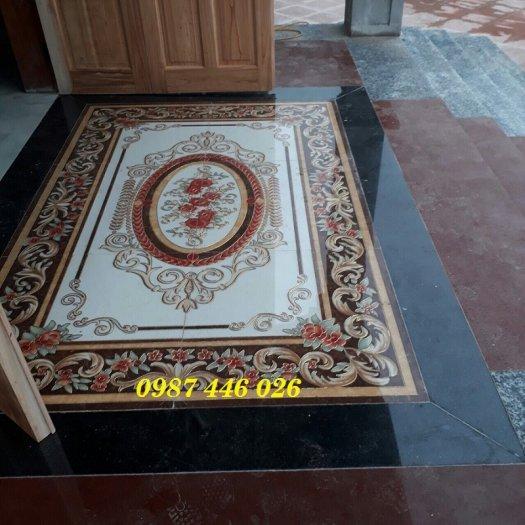 Thảm gạch sàn trang trí nội thất phòng khách đẹp HP105984