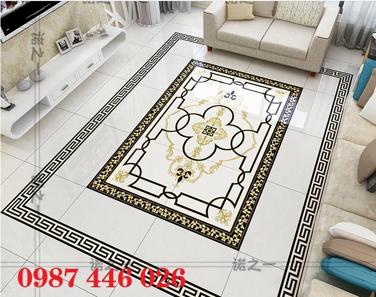 Thảm gạch sàn trang trí nội thất phòng khách đẹp HP105983