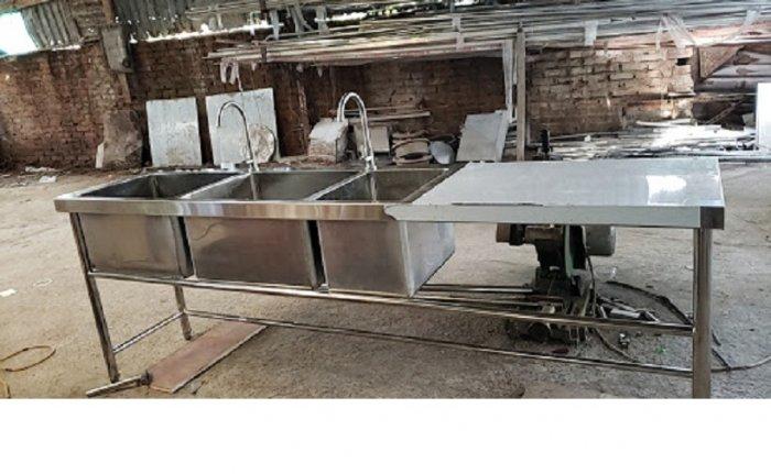 Bồn rửa chén 3 ngăn Hải MInh HM 0617