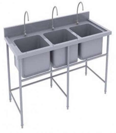 Bồn rửa chén 3 ngăn Hải MInh HM 0613