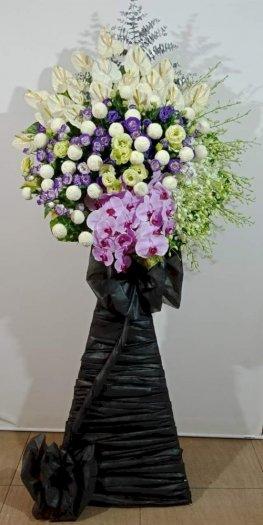 Lẵng hoa chia buồn đám tang trang trọng - LDNK540
