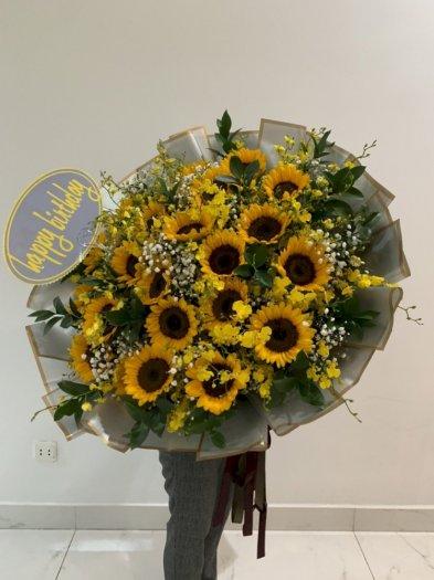 Bó hoa hướng dương khổng lồ chúc mừng sinh nhật - LDNK600